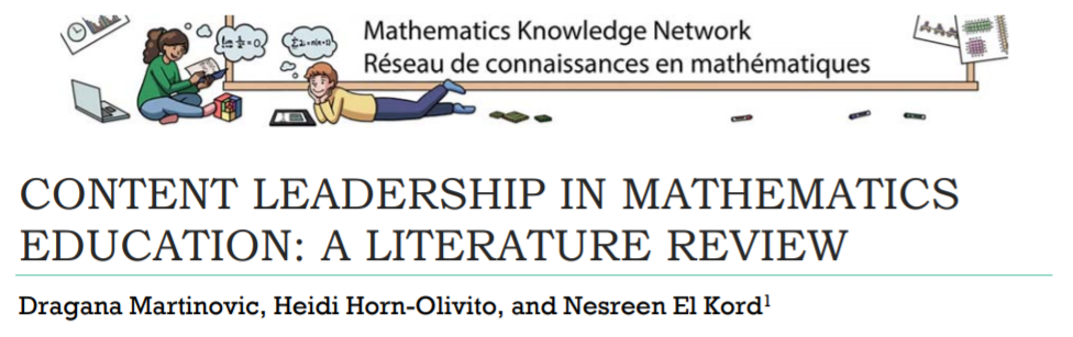 Content Leadership in Mathematics Education: A Literature Review
