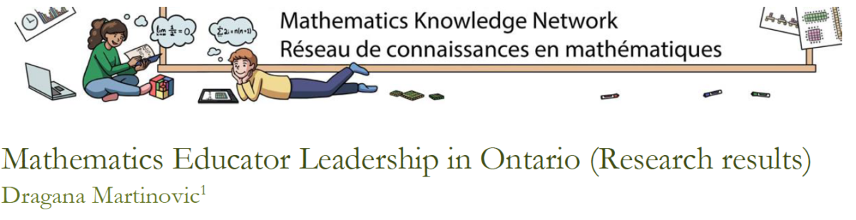 Research Report: Mathematics Educator Leadership in ON