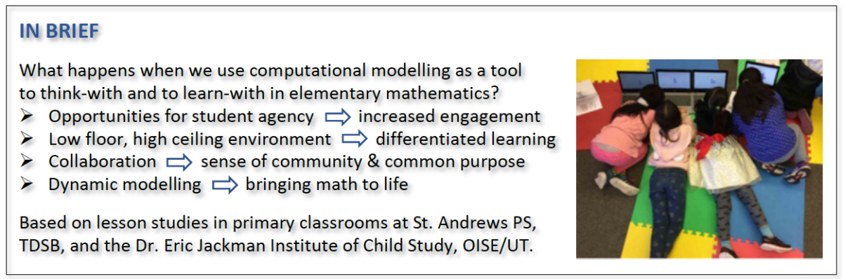 Computational Modelling in Elementary Mathematics Education