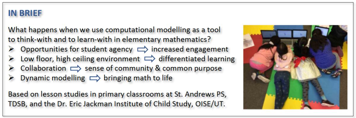 Computational Modelling in Elementary Mathematics Education