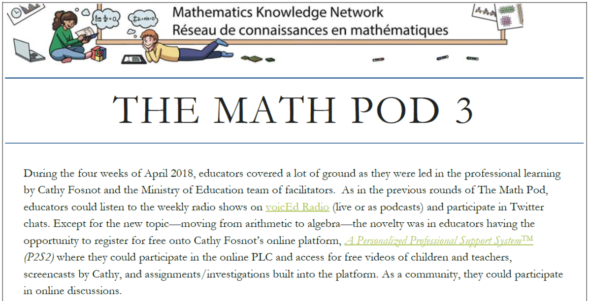 The Math Pod Cycle 3 Overview