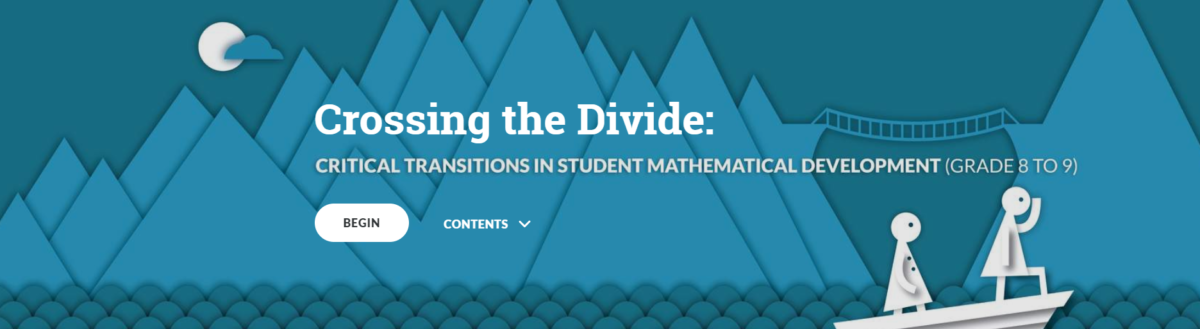 Crossing the Divide: Gr 8-9 Math Transition
